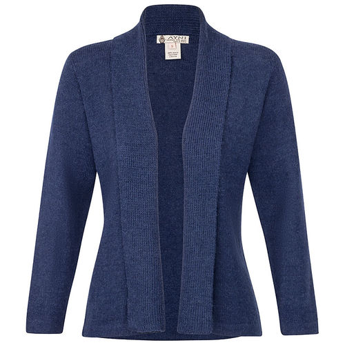 Alpaka Strickjacke Marineblau